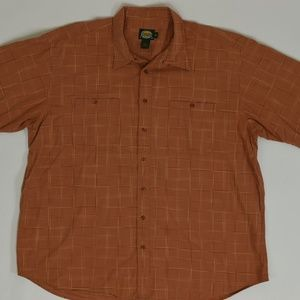 Cabela's Big & Tall 3XL Orange   Button Down Cotto